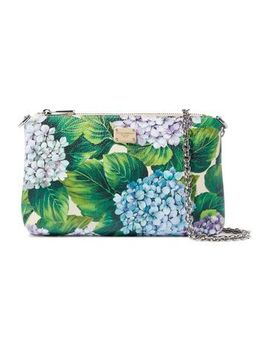 Floral Print Textured Leather Clutch by Dolce & Gabbana