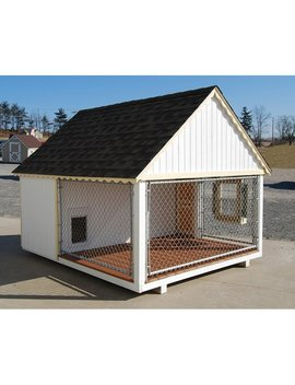 Cape Cod Cozy Cottage Kennel Dog House by Little Cottage Company