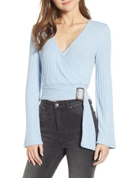 Belted Wrap Top by Bp.