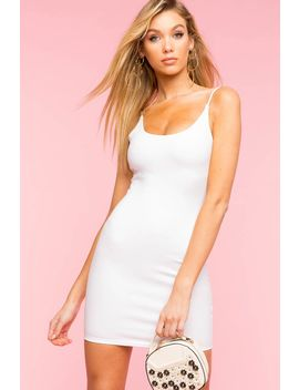Scoop Neck Mini Bodycon Dress by A'gaci