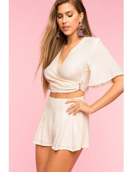 Surplice Two Piece Short Set by A'gaci