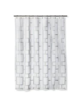 Grid Shower Curtain White   Room Essentials™ by Room Essentials