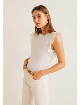 Frills Cotton T Shirt by Mango