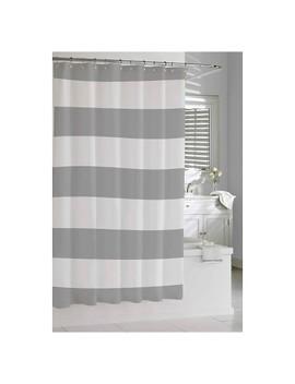 Hampton Stripe Shower Curtain Gray   Kassatex® by Kassatex