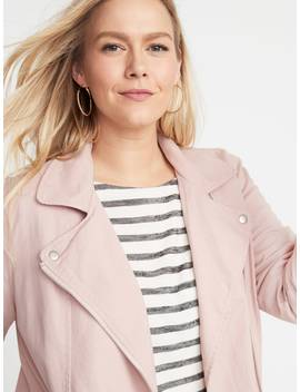 Plus Size Twill Moto Jacket by Old Navy