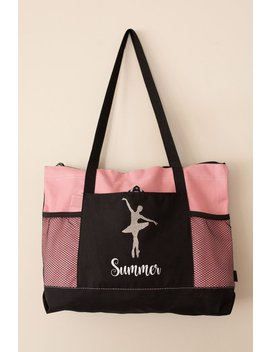 Personalized Dance Bag, Custom Gymnastics Bag, Ballet Bag, Christmas Gift For Kids Cheer Bag by Etsy
