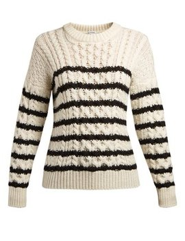 Striped Cable Knit Sweater by Loewe