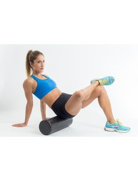 "High Density Foam Roller Extra Firm 6"" X 18"" Full Round Black by Etsy"