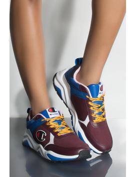 Champion 93 Eighteen Block Sneaker In Maroon Multi by Akira
