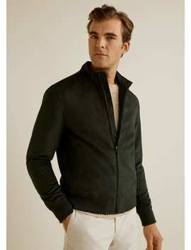 Faux Suede Jacket by Mango