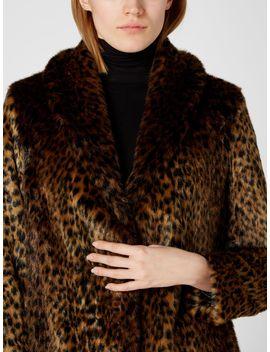 Leopard Faux Fur Coat by Biba