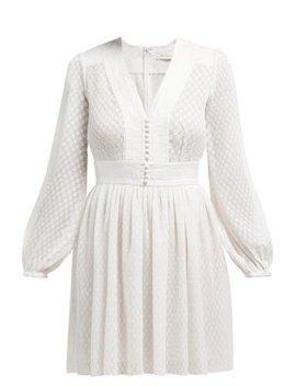 Dot Textured Plissé Mini Dress by Zimmermann