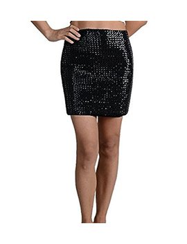 Cheryl Creations Women's Short Sequin Comfortable Day/Night Tube Mini Skirt by Cheryl Creations