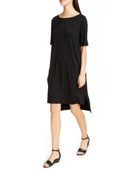 High/Low Shift Dress by Eileen Fisher