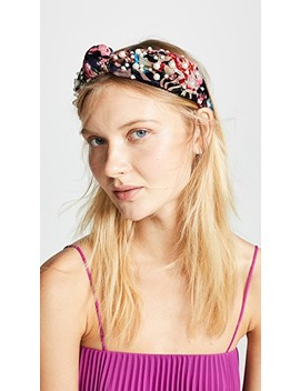 Floral Burnout Headband by Namjosh