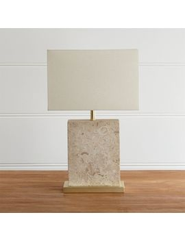 Mactan Stone Table Lamp by Crate&Barrel