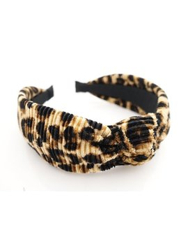Pleated Leopard Print Hairband Fashion Women Headband by Etsy