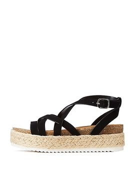 Crisscross Espadrille Sandals by Charlotte Russe
