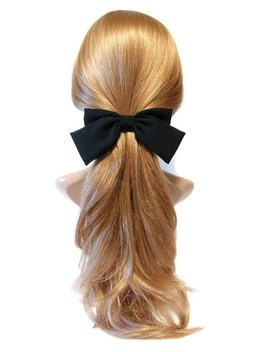 Chiffon Black Hair Bow Series Bow Claw,Bow Barrette,Bow Banana Clip Spring Summer Hair Accessories For Women by Etsy