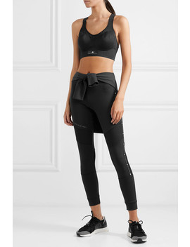 Stronger For It Mesh Paneled Climalite Sports Bra by Adidas By Stella Mc Cartney