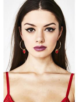 Juicy Gossip Peach Earrings by Ciel