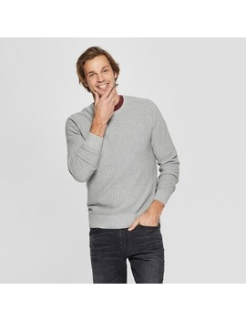 Men's Standard Fit Long Sleeve Crew Neck Pullover Sweater   Goodfellow &Amp; Co™ by Goodfellow & Co