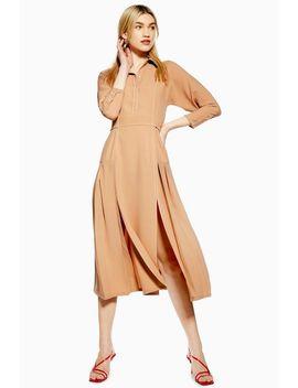 Topstitch Shirt Dress by Topshop