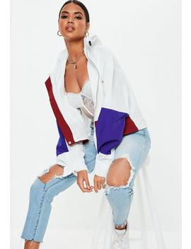 White Ultimate Oversized Boxy Windbreaker Jacket by Missguided