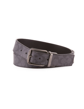 Men's Wide Harness Signature Print Belt by Coach