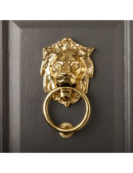 Lion Door Knocker by Crate&Barrel