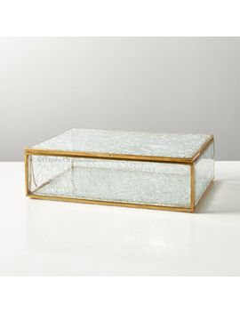 Shatter Glass Box by Crate&Barrel