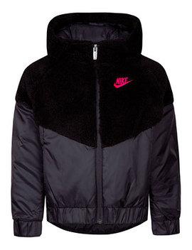 Little Girls Faux Sherpa Hooded Windrunner Jacket by Nike