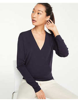 Petite Crossover Sweater by Ann Taylor