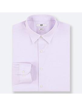 Men Easy Care Dobby Stretch Slim Fit Shirt (Regular Collar) by Uniqlo