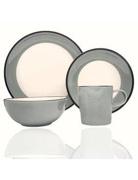 Milano Celadon 16 Piece Dinnerware Set, Service For 4 by Red Vanilla