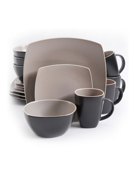 Gibson Soho Lounge 16 Piece Dinnerware Set, Service For 4 by Gibson Home