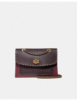 Parker In Signature Leather With Rivets by Coach