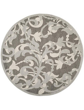Amherst Gray And Light Gray 7' X 7' Round Area Rug by Safavieh