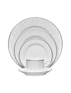 Glacier Platinum 5 Piece Place Setting, Service For 1 by Noritake