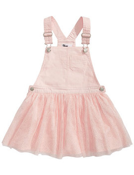 Little Girls Denim & Tulle Skirtall, Created For Macy's by Epic Threads