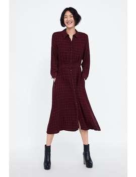 Checked Shirt Dress  Midi Dresses Woman by Zara