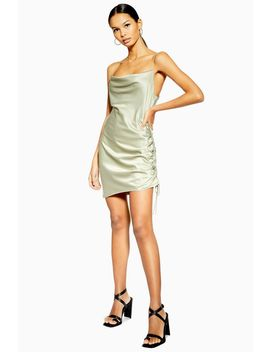 Ruched Mini Slip Dress by Topshop