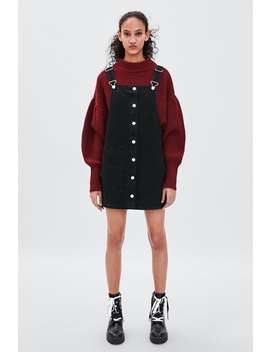 Authentic Denim Pinafore Dress  View All Dresses Woman by Zara