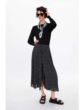 Polka Dot Pleated Skirt  Skirtswoman by Zara