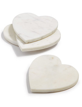 Heart Marble Coasters, Set Of 4, Created For Macy's by Martha Stewart Collection