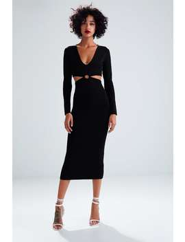 Long Knit Dress With Cut Outs  View All Dresses Woman by Zara