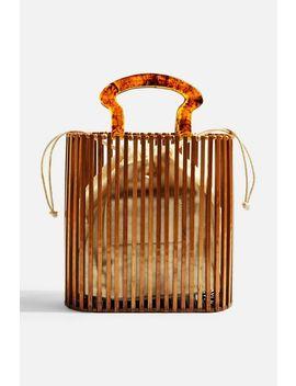 Flint Wooden Tote Bag by Topshop