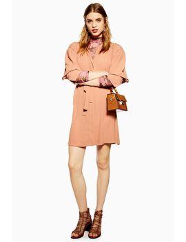 Pintuck Mini Dress by Topshop