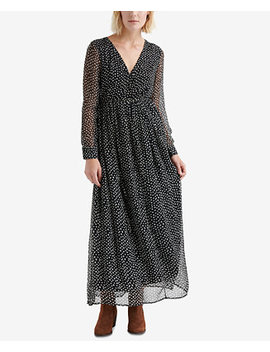 Dotted Crinkle Maxi Dress by Lucky Brand