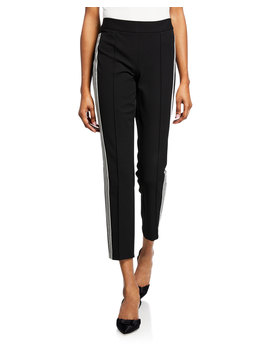 Mid Rise Side Stripe Track Pants by Nanette Lepore